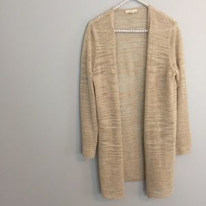Eileen Fisher Tan Long Cardigan